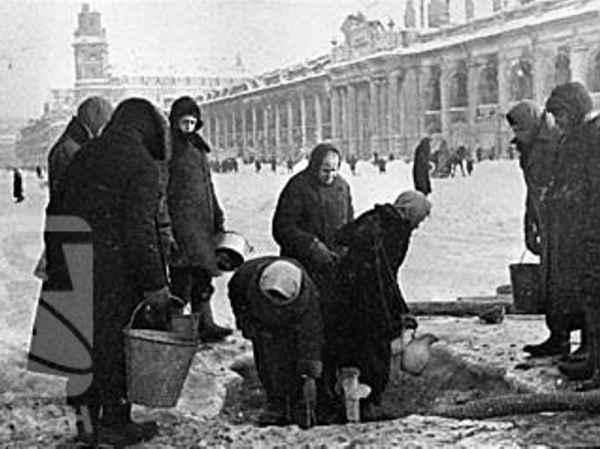 Блокада Ленинграда фото людей